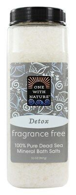 One With Nature - Dead Sea Mineral Bath Salts Fragrance Free - 32 oz.