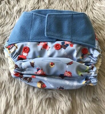 NWOT Grovia Hybrid Hook and Loop Cloth Diaper Retired Once Upon a Time Shell-OS