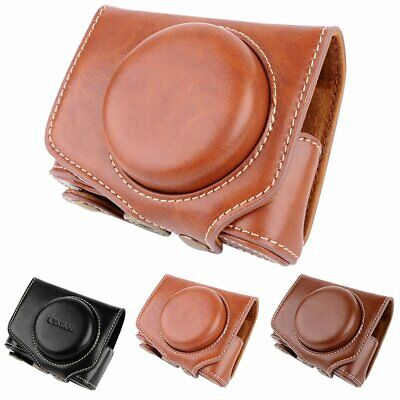 Leather Camera Case Bag Cover For Canon PowerShot G7X Mark2 G7XII G7X II Camera