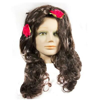 HMS Day Of The Dead Wig 24 Inch Long, Brown, One Size