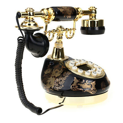 Classic Retro Vintage Desk Antique Styling Resin Telephone Phone Home Decoration