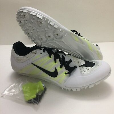 016273c6aaa63 Men s Nike Zoom JA Fly 2 Sprint Track Spikes Shoes 705373-107 White Black  Volt