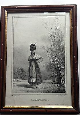 ALBANIA,costume by donna . LITHOGRAPHY Morrossin