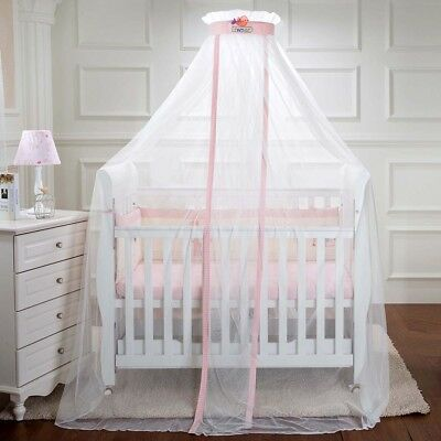 Kids Baby Cot Bed Mosquito Net Curtain Canopy Dome Mesh Nursery Summer AU004