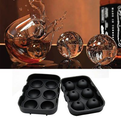 4-balls/6-balls Large Cocktail Ice Maker Sphere Tray Cube Whiskey Round Mould