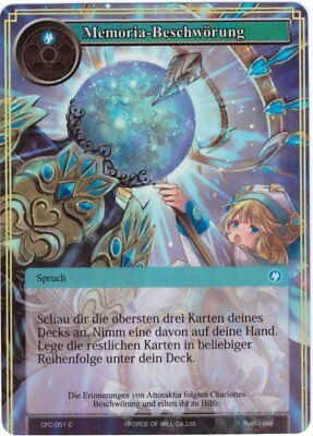 Force of Will TCG Map #cfc-051 Memoria Conjuratio - Holo