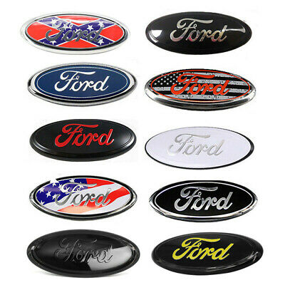 7//9 Inch FOR 04-14 F150 Front Grille Tailgate Emblem Oval Badge Nameplate