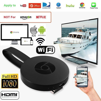 Dongle HDMI 1080P WiFi Display TV Media Récepteur Android IOS Pour Chromecast 2