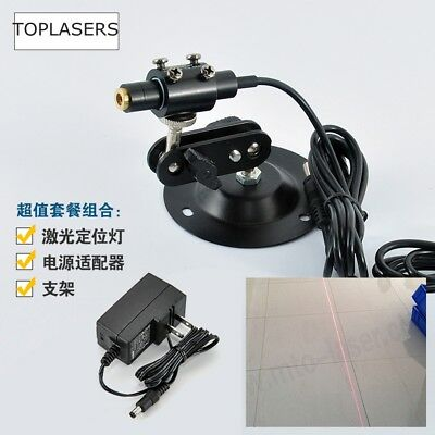 Positioning/Sewing 20mW 650nm Red Line Laser Diode Module w Adapter & Holder