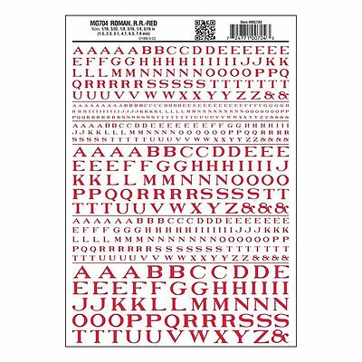 Letters Dry Transfer Sheet, Roman RR Red Dt - Woodland Scenics MG704 F1
