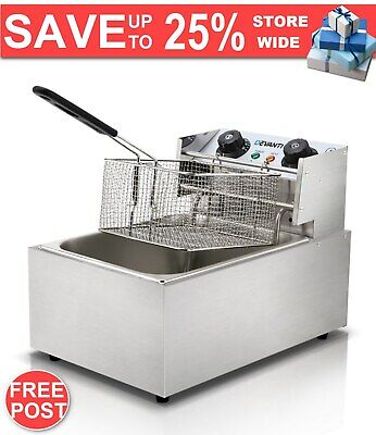 5 Star Chef Commercial Deep Fryer w/ Single Basket FAST & FREE POSTAGE WARRANTY