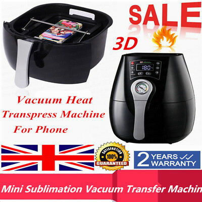 3D Mini Sublimation Vacuum Heat Transpress Transfer Oven Machine for Phone Case