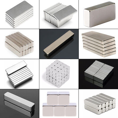 1-100X N52 Neodymium NdFeB Magnet Super Strong Cuboid Strip Bar Rare Earth Block