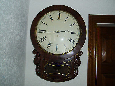 English Fusee Dropdial 8 day clock