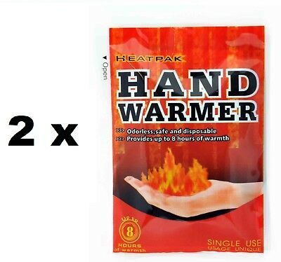 Pair of Compact Hands Gloves Warmers Heatpack 8 Hours IDF Heat Camping Bag Pack