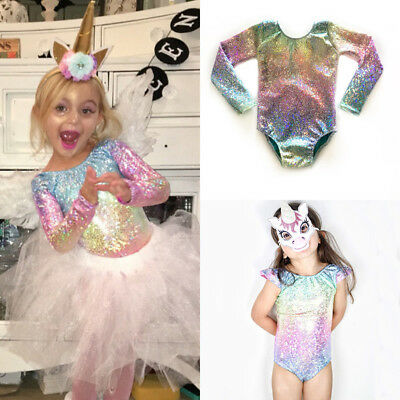 UK Toddler Baby Girl Mermaid Shiny Top Romper Jumpsuit Colorful Swimwear Clothes