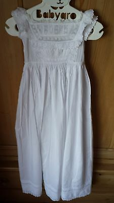 Babys Antique Long Cotton Christening Gown