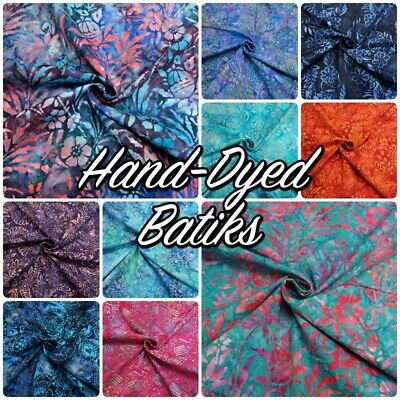 Bright Multi-Coloured 100% Cotton Hand Wax-Dyed Batik Patchwork Craft Fabric