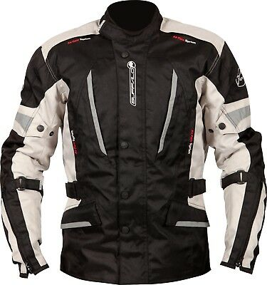 Buffalo Cyclone Black Stone Textile Waterproof Motorcycle Jacket New £109.99!!