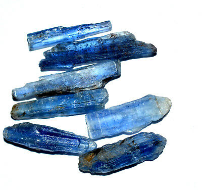 34.55 Ct 100% Natural Crystal Blue Kyanite Unheated Nepali 7 Pcs FACET Rough