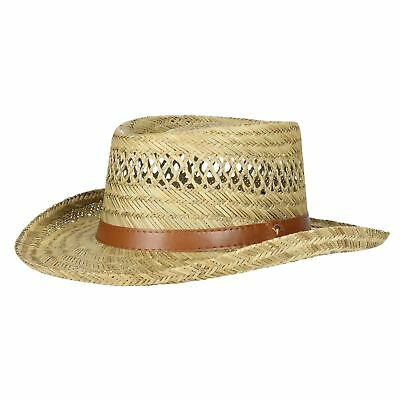91eeeaf31baf9 Dorfman Pacific Straw Cowboy Hat Lightweight Casual Wide Brim Men Gambler  Gift