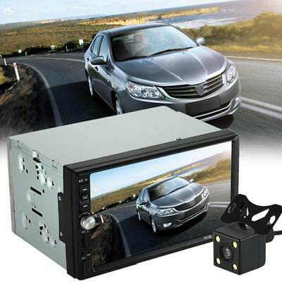 """7""""Double 2 Din Car Bluetooth MP5 Player Stereo Radio HD Touch Screen+Rear Camera"""