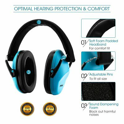 Safety Ear Muffs Noise Cancelling Headphone For Kids Child Hearing Protection AU