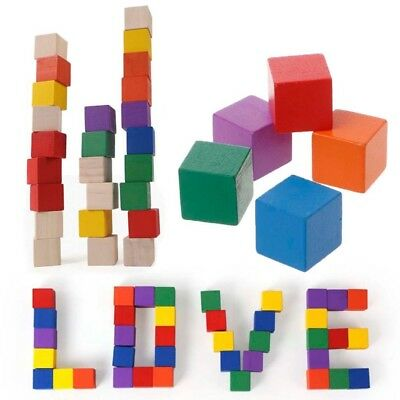 Wooden Classic Stacking Building Blocks Shape Basic Educational Toy For Child