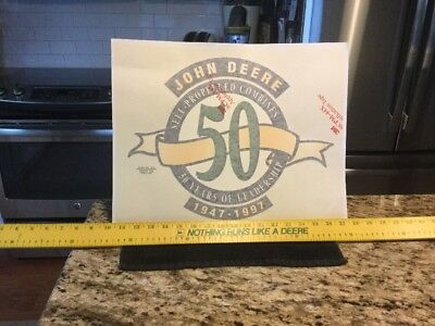 """1997 John Deere""""Self-Propelled Combines -50 Years"""" 14""""x18"""" Decal - New/Old Stock"""