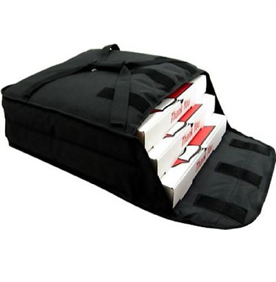 "Pizza Delivery Bag Thick Insulated(Holds up to Two 16"" or Two 18"" Pizzas)Black."
