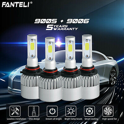 9005 9006 3920W 588000LM Combo LED Headlight Kit High Low Beam Bulbs 6000K White
