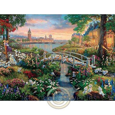 750 Piece Puzzle: Thomas Kinkade - Disney Dreams - 101 Dalmations Puzzle Relax