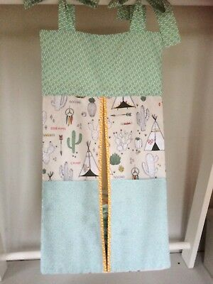 Cherokee Village/Tepee Nappy stacker/Toy Storage. Girl or Boy. Ideal Baby Gift.