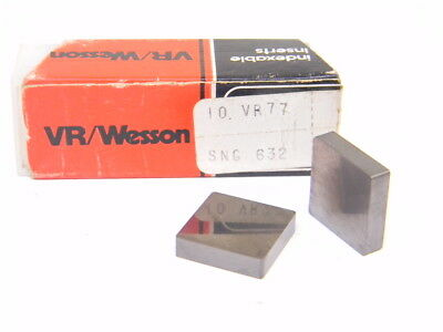 Last NEW SURPLUS 10PCS. VR/WESSON SNG 632  GRADE: VR77 CARBIDE INSERTS