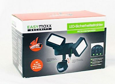easymaxx led doppelstrahler mit bewegungsmelder wandlampe au enlicht gartenlampe eur 29 99. Black Bedroom Furniture Sets. Home Design Ideas