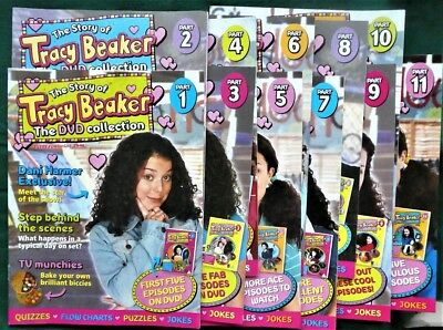 Lot Bundle of 11 x The Story of Tracy Beaker The DVD Collection - MAGAZINES ONLY