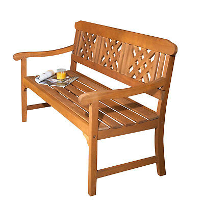 Robert Dyas FSC 3-Seater Garden Fence Wood Bench, Pre Treated Wooden Furniture