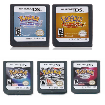 5X Pokemon HeartGold SoulSilver Game Card For 3DS NDSI NDS NDSL Lite2 US Version