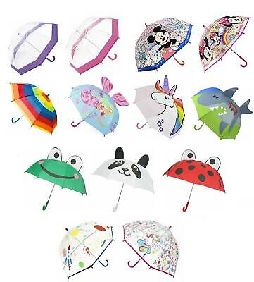 Ladies Mens Kids Mini Large Golf Clear Bubble Dome Umbrella Brolly School Travel