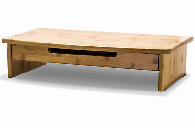 Prosumer's Choice Bamboo Monitor Stand / TV Riser with Pull-Out Drawer