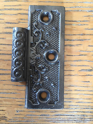 Antique 3 x 3 cast iron hinge, right side