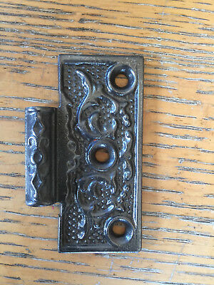 Antique 3 x 3 cast iron hinge, right side.
