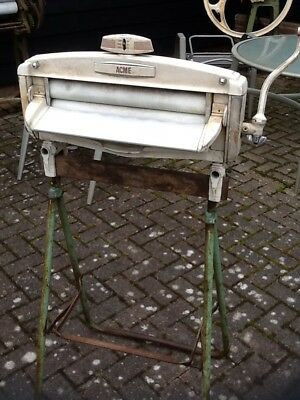 Vintage Acme Mangle With Stand Wooden Clothes Horse Drier Included Shop Display