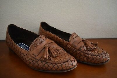 02c70c95be4 Men s Cole Haan Bragano - Size 9.5M Leather Weave Woven Tassel Loafer Made  Italy
