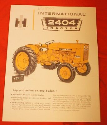 International 2404 Utility Tractor Sales Brochure IH Farmall Wide Front Yellow