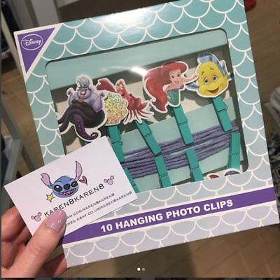 DISNEY THE LITTLE MERMAID Hanging Photo Clips Primark