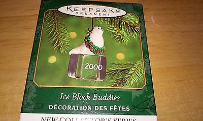 Hallmark Christmas Miniature Ornament ICE BLOCK BUDDIES 2000 #1 Seal Box New