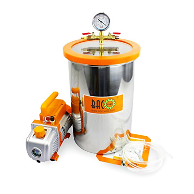 Brand New BACOENG 5 Gallon Vacuum Chamber Kit with Vacuum Pump Standard HVAC