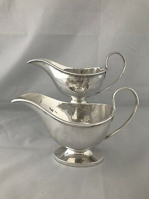 Solid Silver Gravy Or Sauceboats 1913 London Horace Woodward