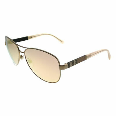 804b0b145c0 BURBERRY BE 3080 12357J Matte Gold Aviator Sunglasses Rose Gold Mirror Lens  -  144.99